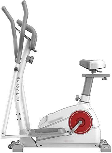 Wghz Máquina elíptica, 2 en 1, máquina de Entrenamiento de pérdida de Peso Cardiovascular, con Asiento, máquina elíptica, Entrenador, para el hogar y el Gimnasio