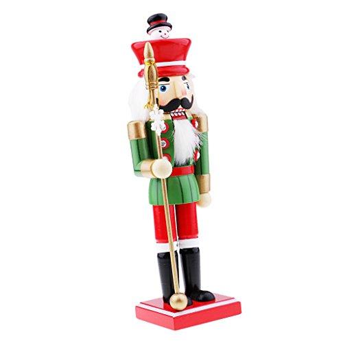 non-brand Nussknacker Marionette Holz Dekorativ Weihnachtsschmuck Walnüsse Soldat Spielzeug