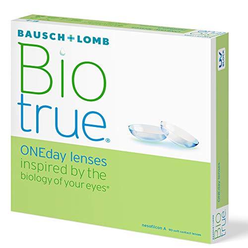 Bausch und Lomb Biotrue ONEday sphärische Tageslinsen, Kontaktlinsen weich -02.50 Dpt, DIA 14,2 mm, BC 8,60, 90 Stück