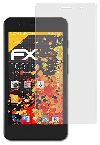 atFolix Panzerfolie kompatibel mit Archos Access 50 4G Schutzfolie, entspiegelnde & stoßdämpfende FX Folie (3X)