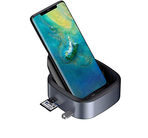 RENS Docking Station USB Type C HUB, Docking Station voor S10-8 Note 9/8 Dex Station USB-C naar HDMI Dock Power Adapter voor P30/Mate