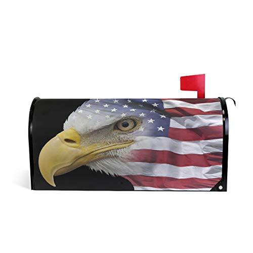 Ollabaky Happy Independence Day Briefkastenabdeckung mit amerikanischer Flagge, magnetischer Briefkasten, Abdeckung für Zuhause, Garten, Hof, Außendekoration, 64,8 cm (L) x 52,1 cm (B) 20.8 x 18