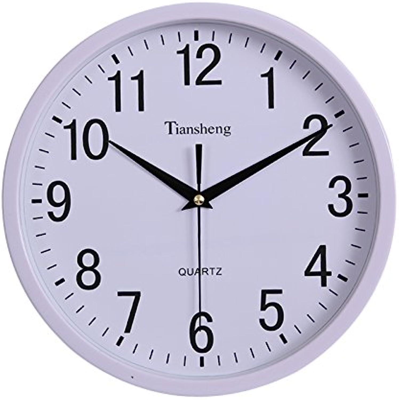 Felices compras Komo Komo Komo silencioso Moderno Decoración Adorno para Hogar Reloj de Parojo Elegante salón Dormitorio generación Personalizada de Reloj de Parojo, 12 Pulgadas, Color sólido blancoo  servicio considerado