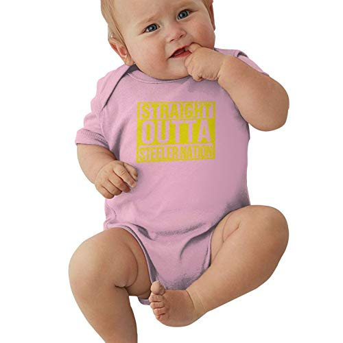 Straight Outta Steeler Nation Baby Boys Pijama Unisex Romper Baby Girls Body Infant Kawaii Jumpsuit Outfit 0-2t Niños,Rosa,2 años