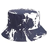 XPT Moda Tie Dye Protección Solar De Doble Cara De ala Ancha Plegable Gorra De Pesca Gorra De Cubo Accesorios De Moda para Exteriores Azul Marino