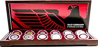 DE 1945 Nazi Germany: A Collection of 12 Coins In Beautiful Wood Box,With Story & Nazi Germany: A Collection of 12 Coins In Beautiful Wood Box,With Story & Certificate Genuine
