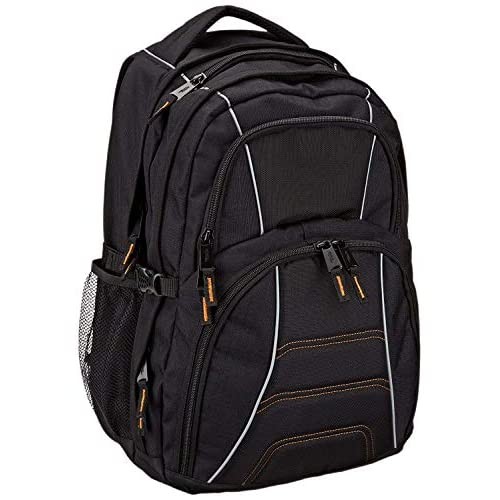 """AmazonBasics, zaino per computer portatile, ideale per la maggior parte dei laptop da 17"""" (43cm), Nero"""