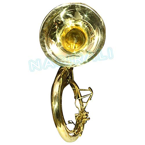 NASIR ALI PROFESSIONAL SOUSAPHONE Bb PITCH GOLD LOOK WITH FREE BAG AND MP