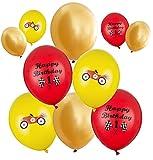 10 bunte Luftballons Rennwagen Geburtstag Deko Kindergeburtstag Party Geburtstag Junge Deko Luftballon Motiv Rennauto