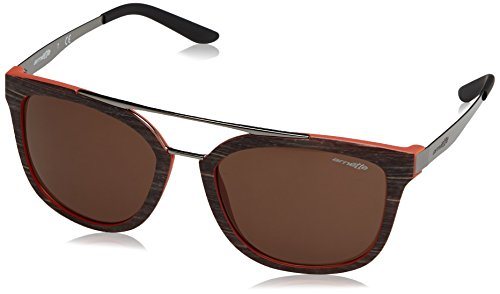 Arnette 0AN4232 243073 56 Occhiali da Sole, Marrone (Brush Mt Brown/Mt Orange/Brown), Uomo