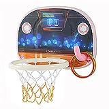 Tablero de Baloncesto Juguetes de Tiro de Interior, Juguetes de tiroteo de Dibujos Animados para Padres y niños, Juguetes portátiles para portátiles (Color : Black)