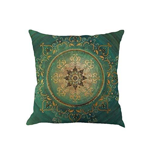 Kussenhoes voor dames, geometrisch, Bohemian-stijl, katoen, bedrukt, afmeting 45 x 45 cm, sierkussen