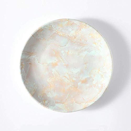 DJY-JY Juego de platos nórdicos vajilla creativa mármol cerámica occidental plato de carne plato de cena hogar plato de postre