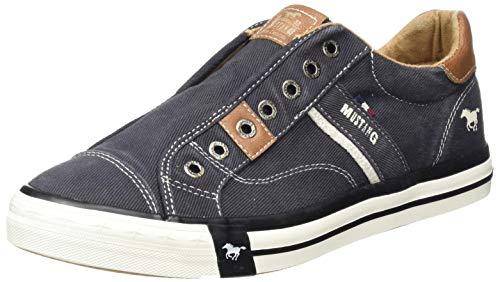 MUSTANG Herren 4072-403 Slip On Sneaker, Schwarz (Schwarz 9), 44 EU