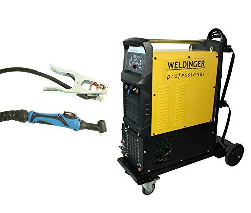 WELDINGER WIG-Schweißinverter WE 320P AC/DC pro wassergekühlt mit Schweißwagen