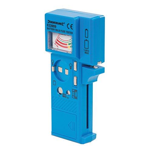 Silverline 633909 Testeur de piles, fusibles et ampoules 1,5 V - 9 V