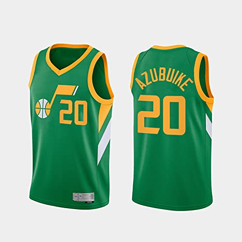 TGSCX Jerseys de Baloncesto para Hombres, Jazz de la NBA 20# Azubuike Classic Jersey, Retro Cool Tela Transpirable All-Star Unisex Uniformes,XL