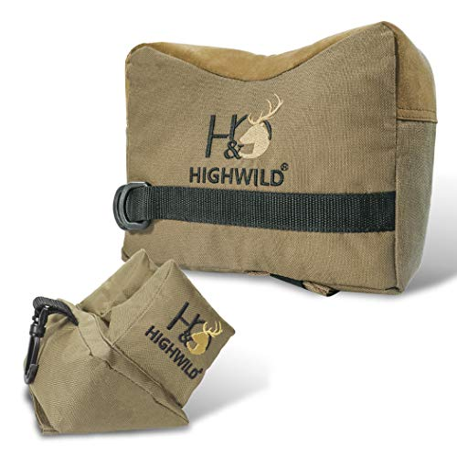 Highwild 900D Oxford Shooting Rest Bags - Shooting Bench Rest Front and Rear Support Sand Bag Stand Holders for Gun Rifle Shooting and Hunting - Water Resistance - Unfilled