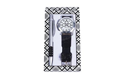 Lote de 20 Set de Reloj + Bolígrafo en Caja de Regalo - Detalles y Regalos Bodas Relojes para Hombres Baratos de Regalo, Cumpleaños, Fiestas