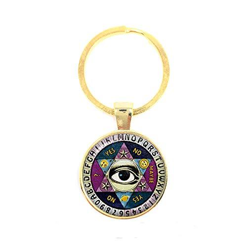 TUDUDU Ägypten Pyramide Annuit Coeptis Auge Der Vorsehung Freimaurer Zeichen Schlüsselanhänger Heilige Geometrie Illuminati Schlüsselring Geschenk Für Freunde