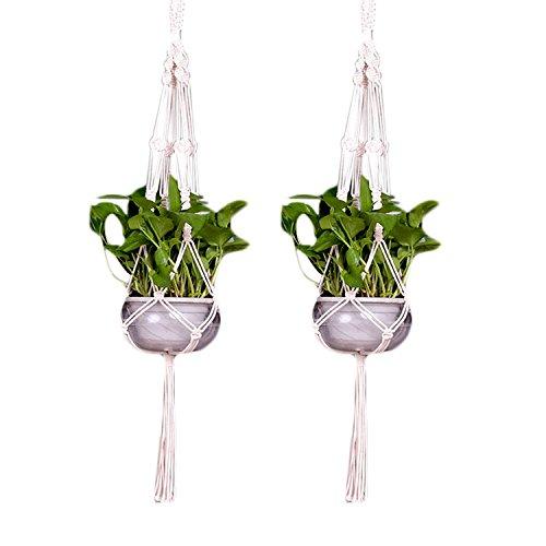 Main Tricot Fleur-pot plant Hanger plafond suspendue Macrame Corde panier