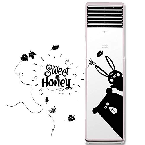 WHFLL Airconditioner Sticker Koelkast Sticker Creatieve Cartoon Muursticker Kamer Slaapkamer muur Ornament Sticker C
