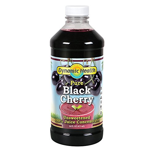 Dynamic Health 100% Pure Black Cherry Juice Concentrate | No Additives | Antioxidant | Urinary Tract amp Joint Support | 16 Servings Packaging Varies