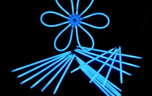 Decotrend-Line-100 Braccialetti Luminosi Starlight Glowstick Party, Colore Blu, 100104