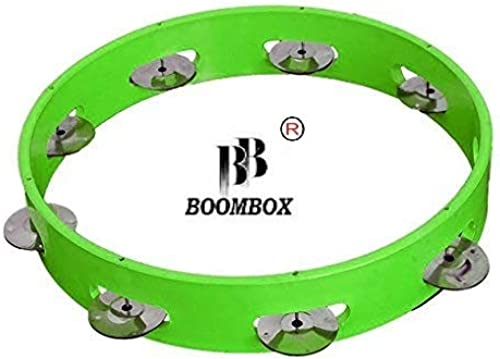 BOOMBOX Tambourine Hand Percussion Musical Instrument 12 inch without skin Multi Colour tambourine hand tambourine musical instrument hand instrument