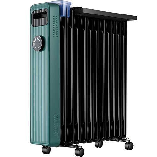 Calentador Calentador / calentador eléctrico / radiador eléctrico Humedad silenciosa de la humedad Ropa de secado 9 piezas de calentador de aceite eléctrico: adecuado for 8-12 metros cuadrados Calenta