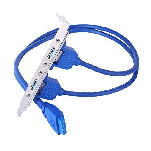 Gazechimp Cable de Soporte PCI de Puerto Dual USB 3,0 con encabezado...