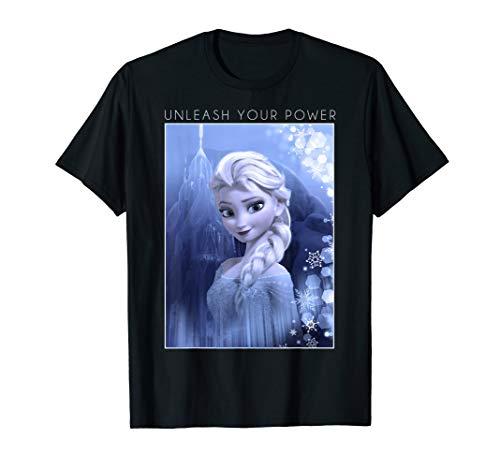 Disney Frozen Elsa Unleash Your Power Poster Graphic T-Shirt