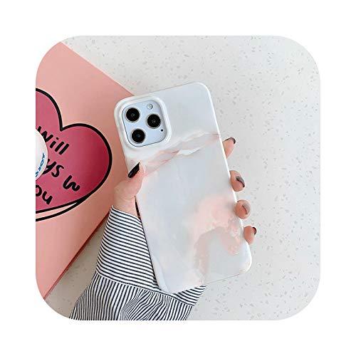 Henraly - Carcasa para iPhone 12, diseño de mármol verde esmeralda rosa para iPhone 12, 11 Pro Max X, XS XR 8 Plus y 12mini Chic Douce-D-for iPhone 12