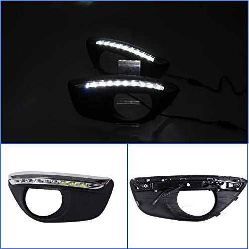 Replacement DayLight for Hyundai Santa Fe 2010-2012 DRL Model A White Daytime running light 1Pair