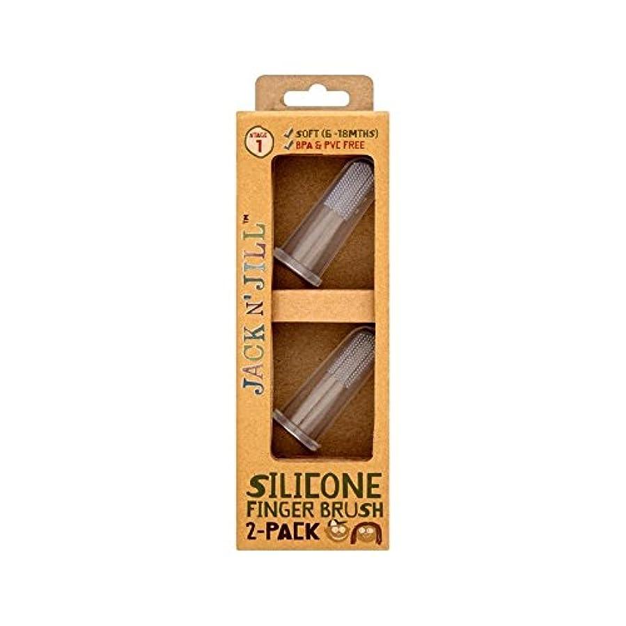 悲劇的な飲料変形シリコーン指ブラシ2パックあたりパック2 (Jack N Jill) (x 4) - Jack N' Jill Silicone Finger Brush 2 Pack 2 per pack (Pack of 4) [並行輸入品]