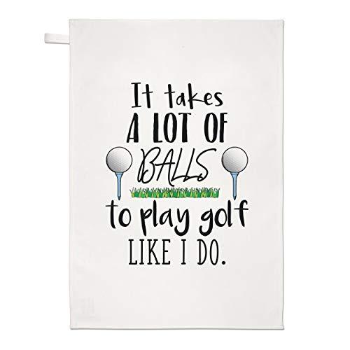 Gift Base It para Lote de Bolas To Play Golf Like i Do Té Toalla Plato Paño