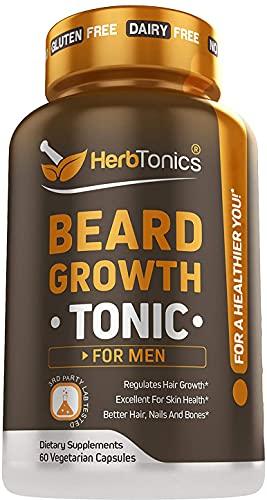 HerbTonics - Beard Growth Vitamins Supplement For Men