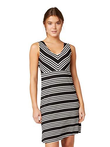 TOM TAILOR Damen Gestreiftes Kleid, Schwarz (Black White Stripe 17265), (Herstellergröße: 42)