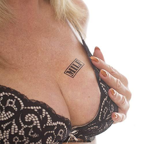 Milf stempel tattoo - zwarte letters klein - sexy kinky fetisch tattoo