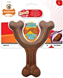 Nylabone Extreme Tough Dog Chew Toy, Wishbone Bison Flavour, Large, for Dogs Up to 23 kg