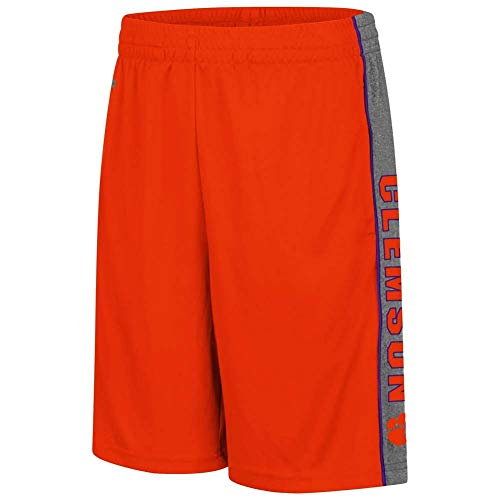 Colosseum Clemson Tigers Youth Copepod Performance Short - Youth - L (16-18) Orange