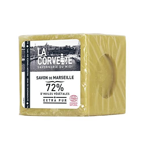 La Corvette Cube de Savon de Marseille Extra Pur Ecocert Film 500 g