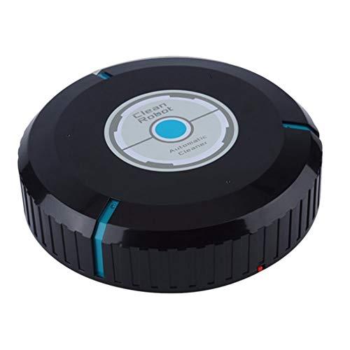 HYY-YY Limpiador de Inicio automático del Robot Inteligente robótico de Microfibra for Limpieza de Piso Esquinas Limpiador del Polvo Barredora Aspiradora: Negro
