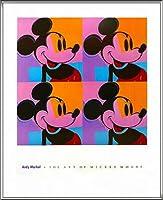 ポスター アンディ ウォーホル ミッキーマウス 1982 額装品 アルミ製ハイグレードフレーム(シルバー)