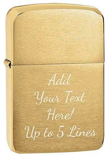 Zippo Personalized Message Engraved Customized 1941 Replica Original Indoor Outdoor Windproof Lighter (1941 Brush Brass)