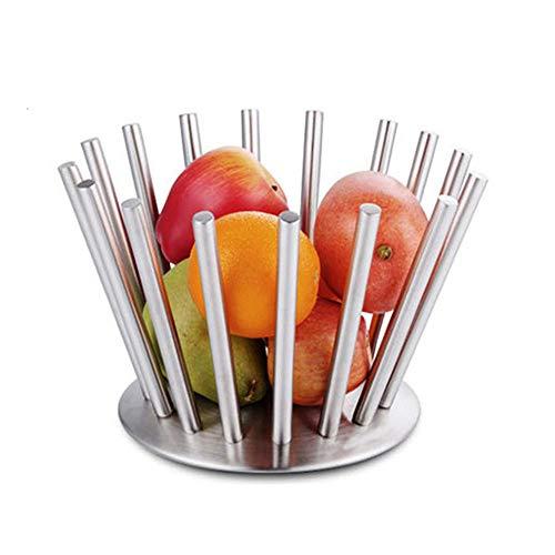 Creativo de acero inoxidable Cesta de frutas Plato seco, Frutero Frutero Frutero/Snack Soporte de pan Suministros de cocina Contenedor de rack,S