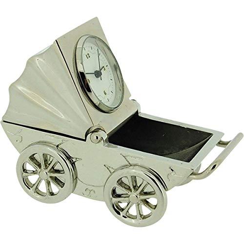 GTP Imp1020s - Marco de fotos para cochecito de bebé, diseño de placa de plata en miniatura