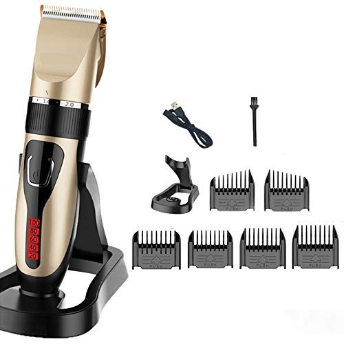 Hair Clippers,Tinen Professional Cordless Clippers for Hair Cutting Beard Trimmer Barbers Grooming Kit Rechargeable,LED Display,5 Level Adjustable,Best Gifts for Men