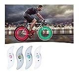 1 Stück Wasserdichtes Fahrradspeichenlicht Fahrrad-räder Beleuchtung Fahrrad Speiche Licht Langlebige Fahrradräder Lichter Led Reifen Blitzlampe Speichenreflektoren Reitzubehör (Multicolor, 1)