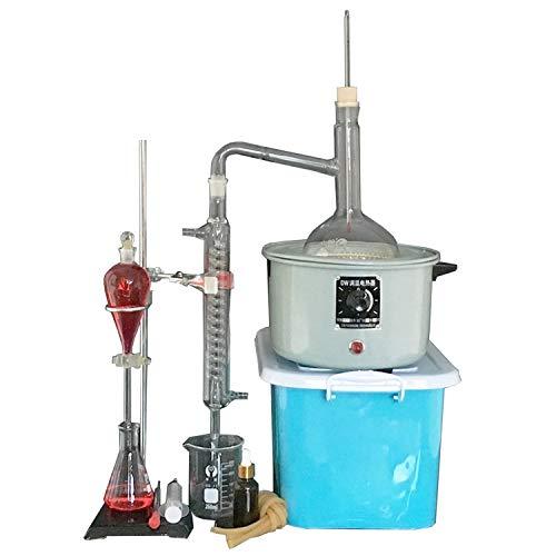 Laborfachdestillationsanlagen Kit, 1000ml Flasche Borosilicatglas Chemical Experiment Installations Hochschule Home Lehre Supplies